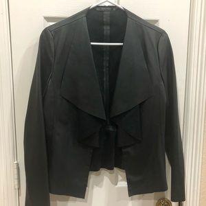 Black Faux Leather Jacket - Sz. S Zara Collection